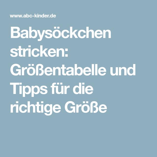 various colors c35eb ee2a6 Babysöckchen stricken: Größentabelle und Tipps für die ...