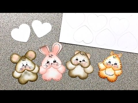 video tutorial: punch art critters using heart punch ... cute little ones to embellish Valentines and more ... from Beary Wishes ...