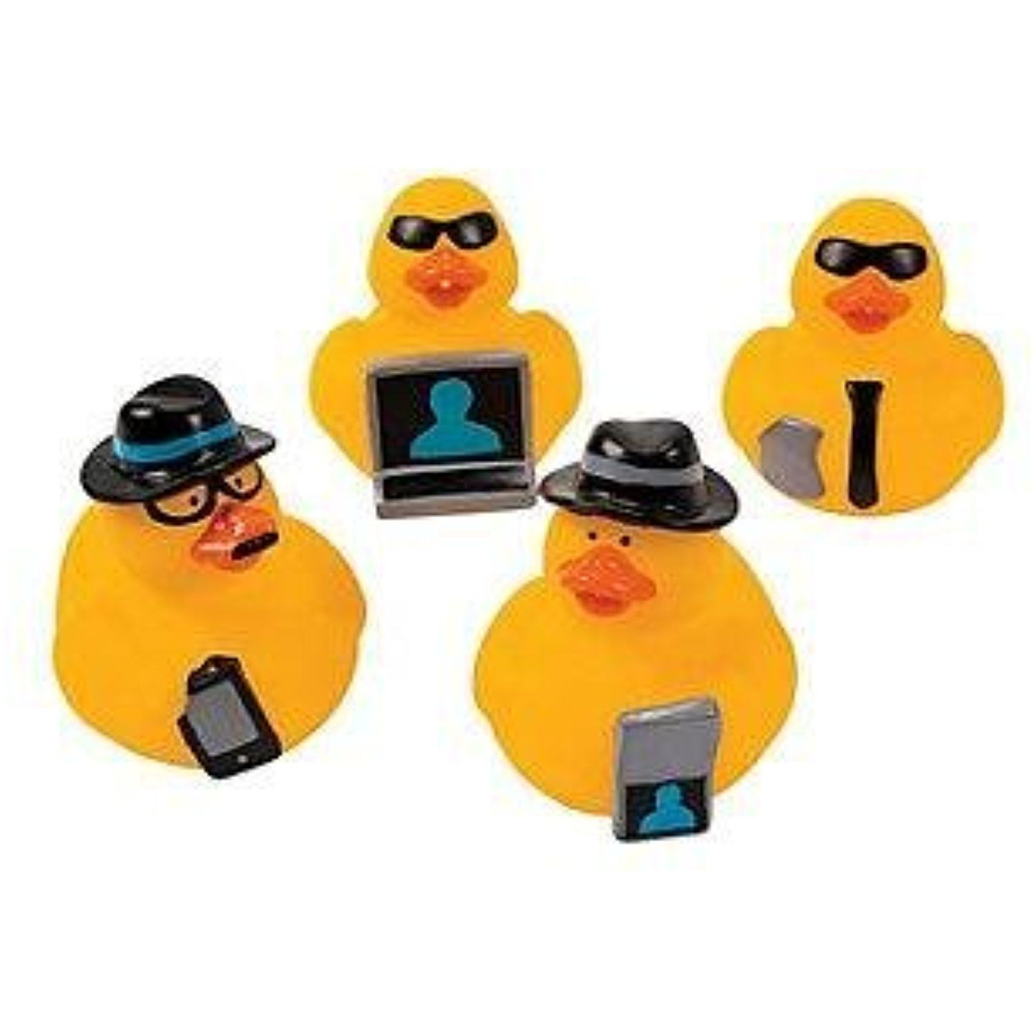 Cool Fun Secret Agent Rubber Duckies You can