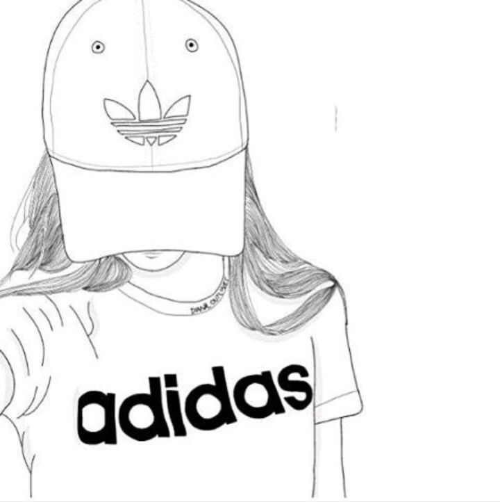 adidas, outline, and art image