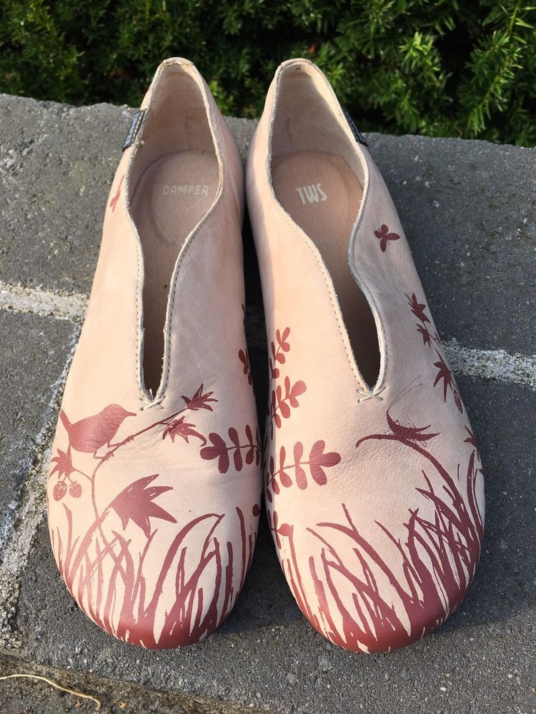 CamperTWINS - Ankle strap ballet pumps - medium pink RmxTDT9