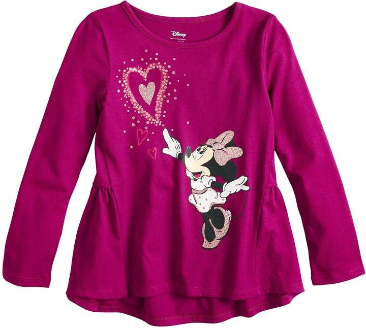 4b386917 Disneyjumping Beans Disney's Minnie Mouse Girls 4-10 Glittery Heart Graphic  Tee by Jumping Beans