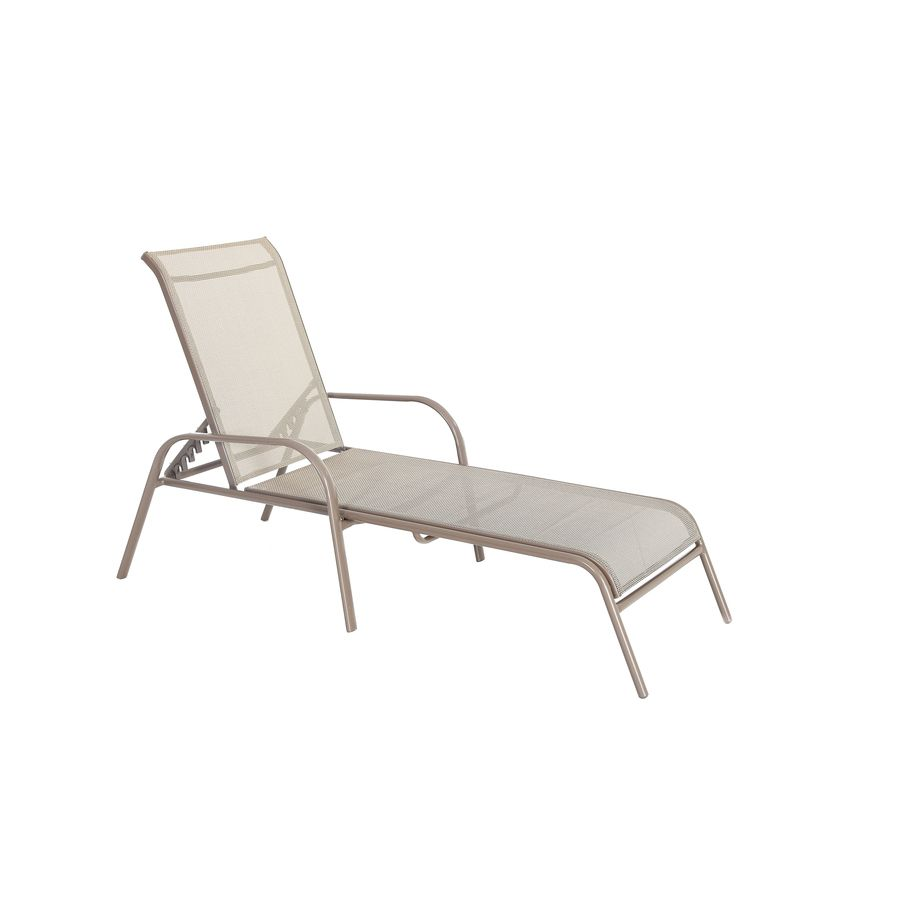 Garden Treasures Driscol Brown Steel Stackable Patio Chaise Lounge Chair  sc 1 st  Pinterest : chaise lounge chairs patio - Sectionals, Sofas & Couches