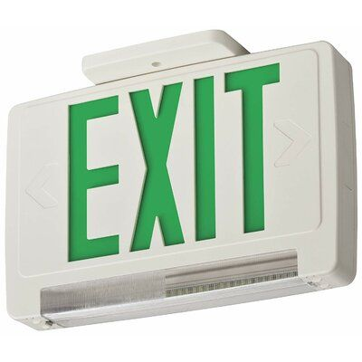 Lithonia Lighting Thermoplastic Surface Mounted Led Emergency Exit Combo Sign In 2020 Lithonia Lighting Emergency Lighting Emergency Exit Signs
