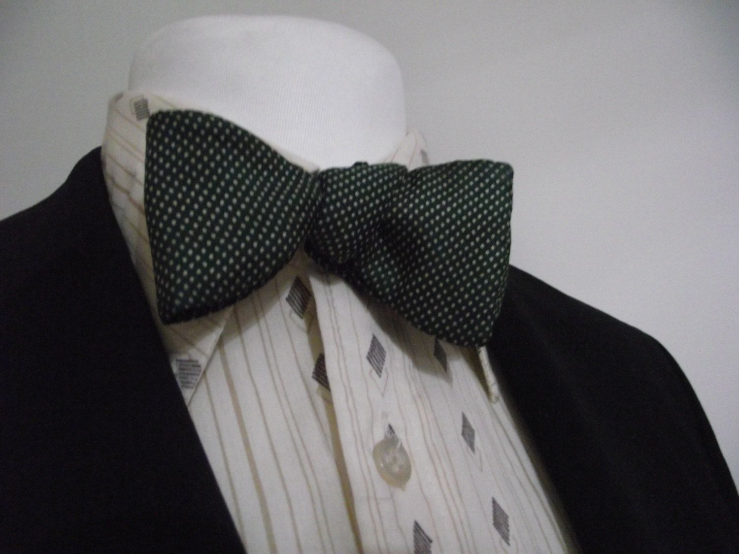1950/'S Silk Suit Jacket  Fully Lined  All Silk Green /& Black Check  Women/'s Size Small to Medium