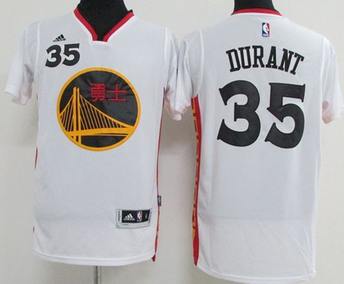 best website a2f80 d2258 Warriors #35 Kevin Durant White 2017 Chinese New Year ...