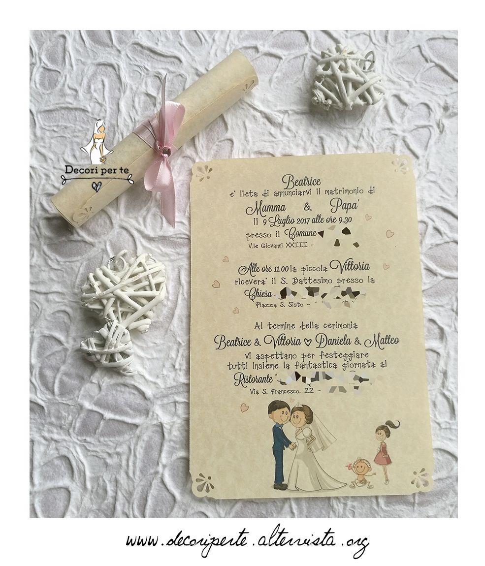 Pergamena Wedding Invitation Partecipazioni Pergamena Matrimonio Divertente Partecipazioni Nozze Segnaposto Matrimonio