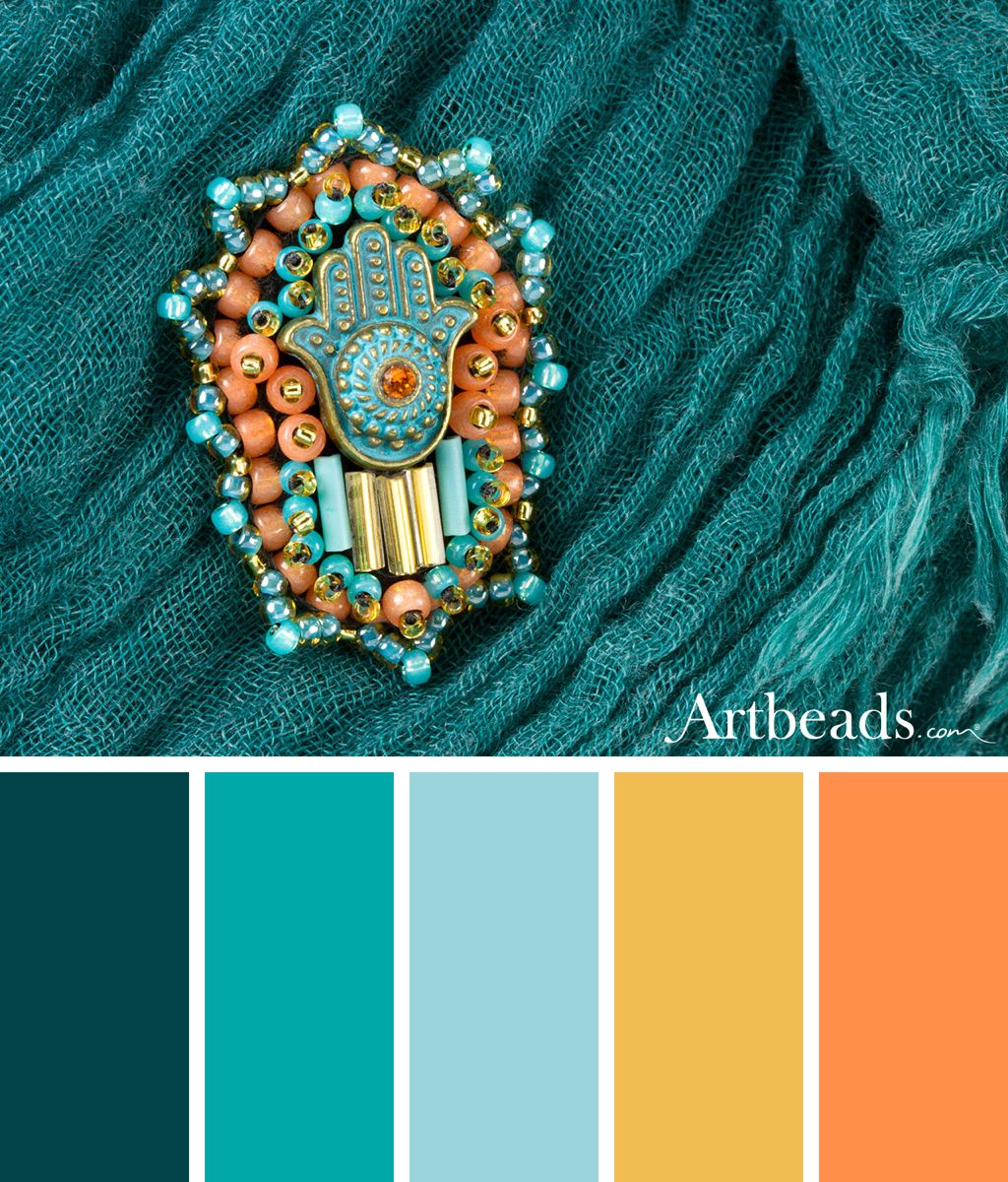 Summer Color Palettes with Swarovski Dazzle – Artbeads Blog
