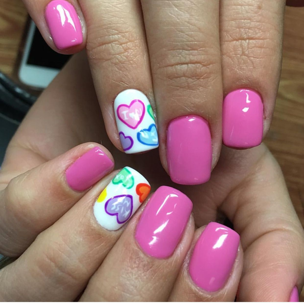 cute valentine nails valentine's
