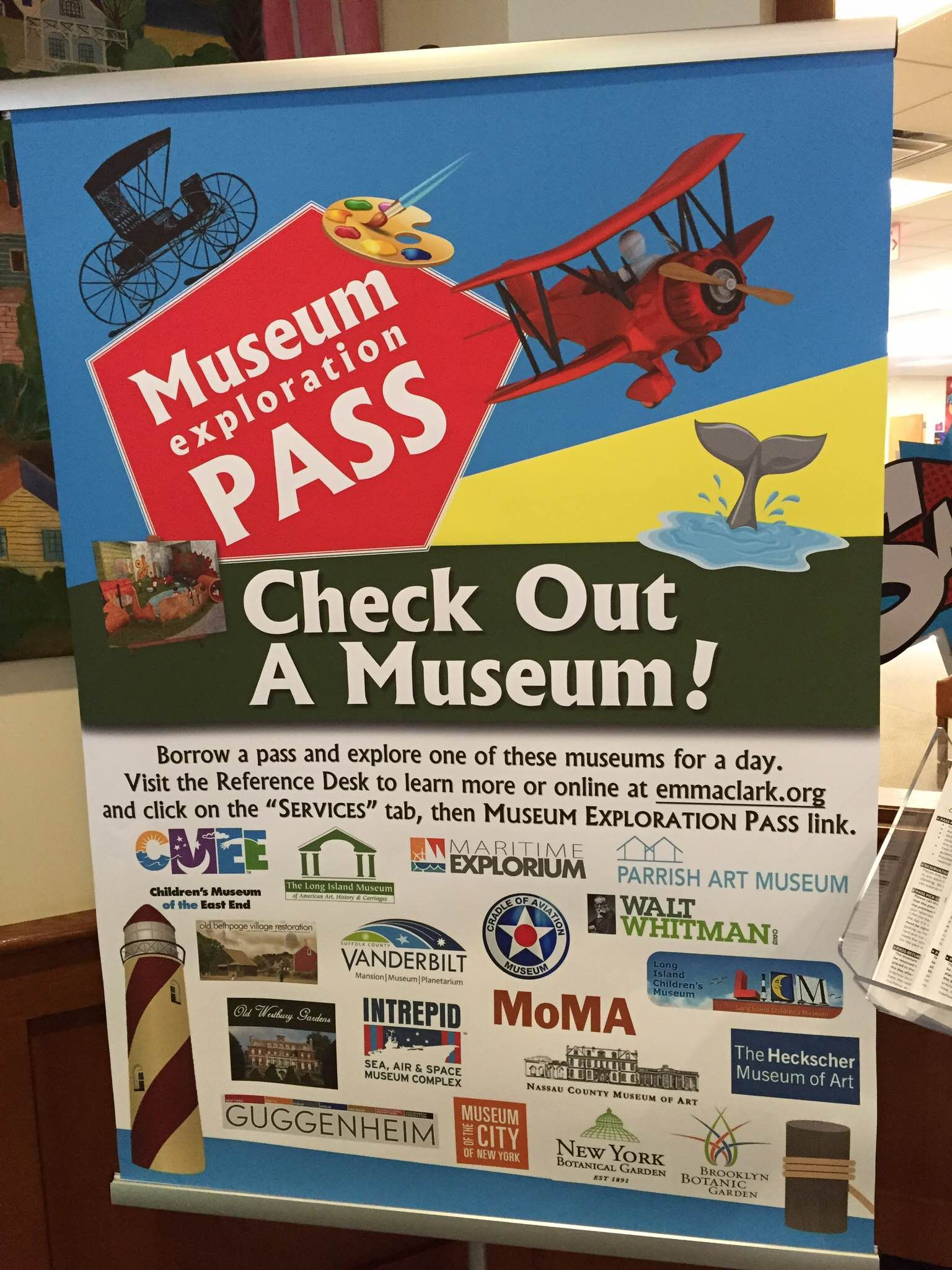 Don't forget to check our Museum Pass Program before you go out this weekend! 18 museums & cultural institutions on LI and NYC. http://www.emmaclark.org/services/museum-passes/