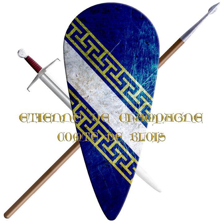 Etienne De Champagne Comte De Blois Crusades Shield Coat Of Arms