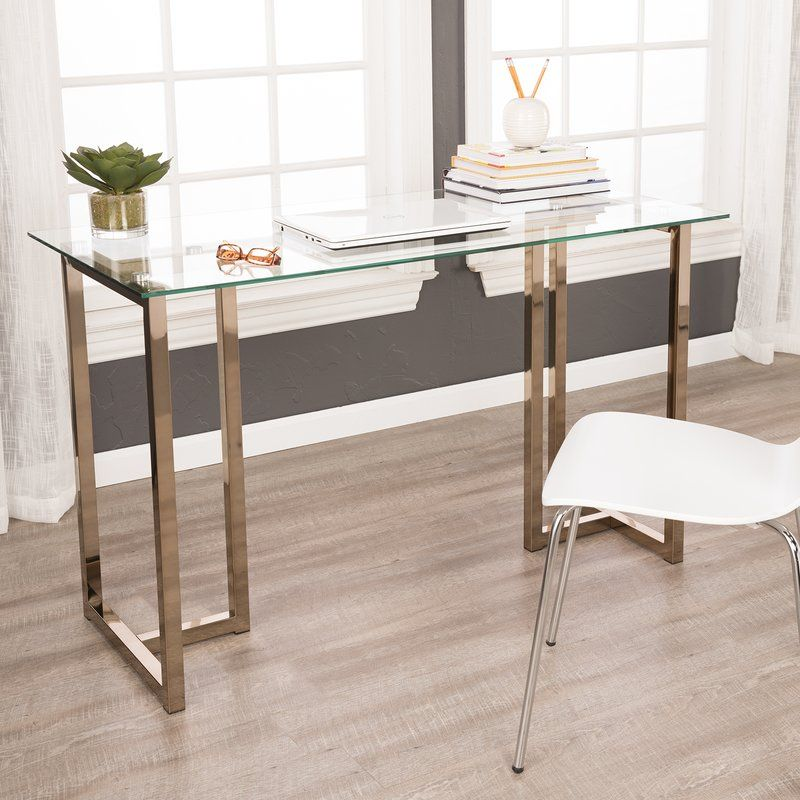 Leddy Glass Writing Desk Home Office Furniture Glass Desk Office Glass Desk