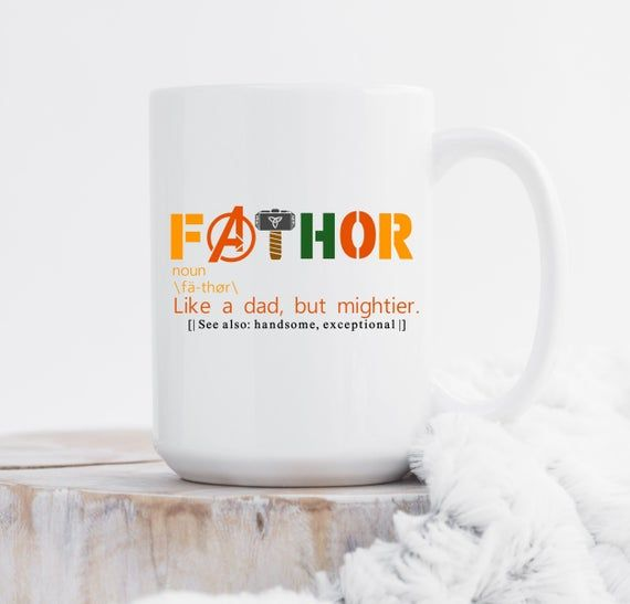 FaTHOR Avengers Mug, Superhero Dad Gift, Father's Day Thor Avengers Mug, Dad Definition Mug, Funny