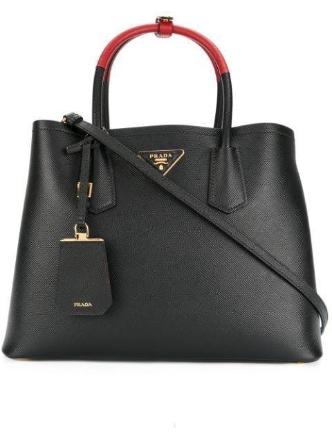 PRADA DOUBLE TOTE BAG. bags bags