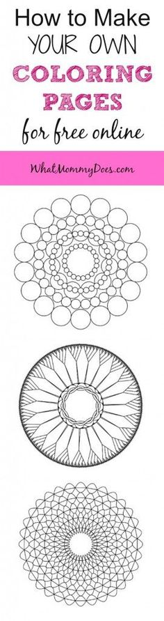 How to Make Your Own Mandala Coloring Pages for Free Online | Tools ...