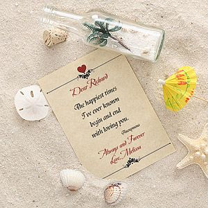 Personalized Love Letter In A Bottle  Romantic Bottle And Gift
