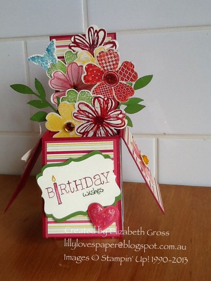 Lillybet's Papers: Card in a Box 2 - Flower Shop