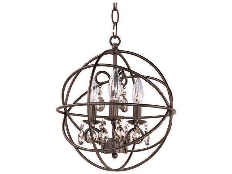 Maxim Lighting Orbit Oil Rubbed Bronze Three Light 12 Wide Mini