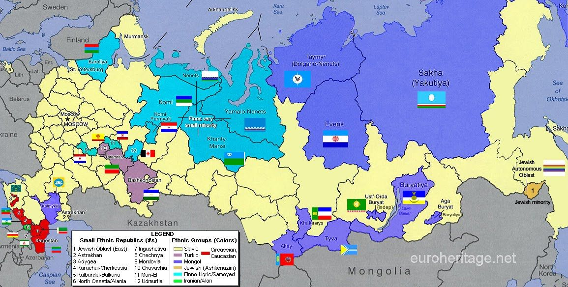 ethnic republics and ethnicity groups within russia Maps Pinterest