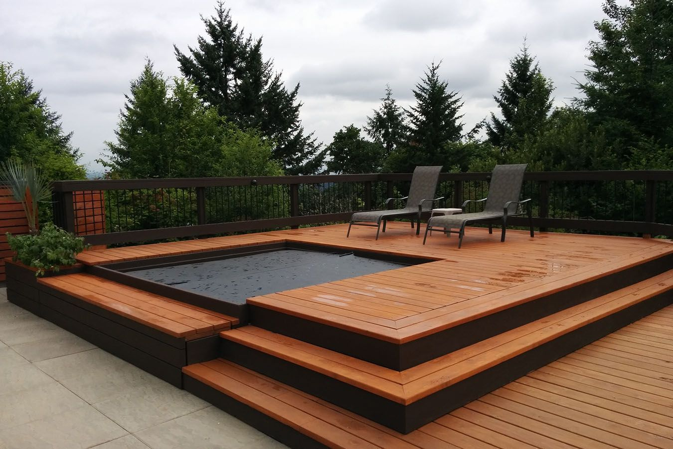 Image Result For Modern Hot Tub Modern Hot Tubs Pool Hot Tub Hot Tub Landscaping Modern patio with hot tub