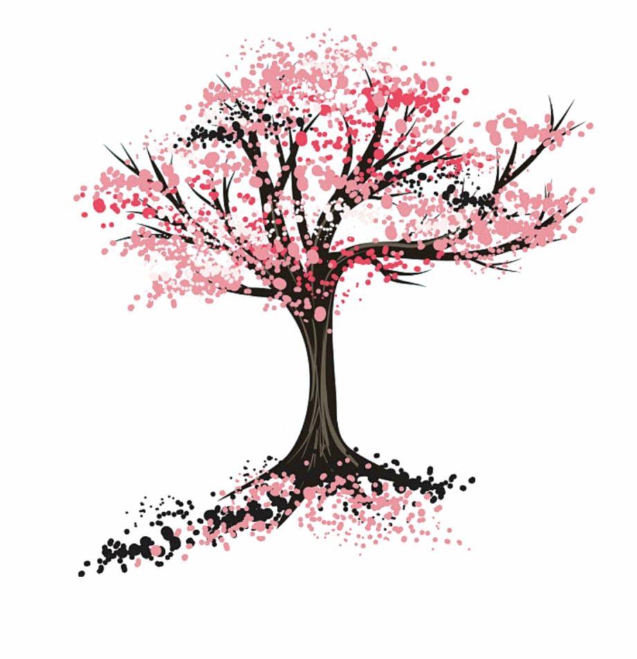 Sakura Tree Drawing Png Tree Drawing Cherry Blossom Drawing Sakura Tree