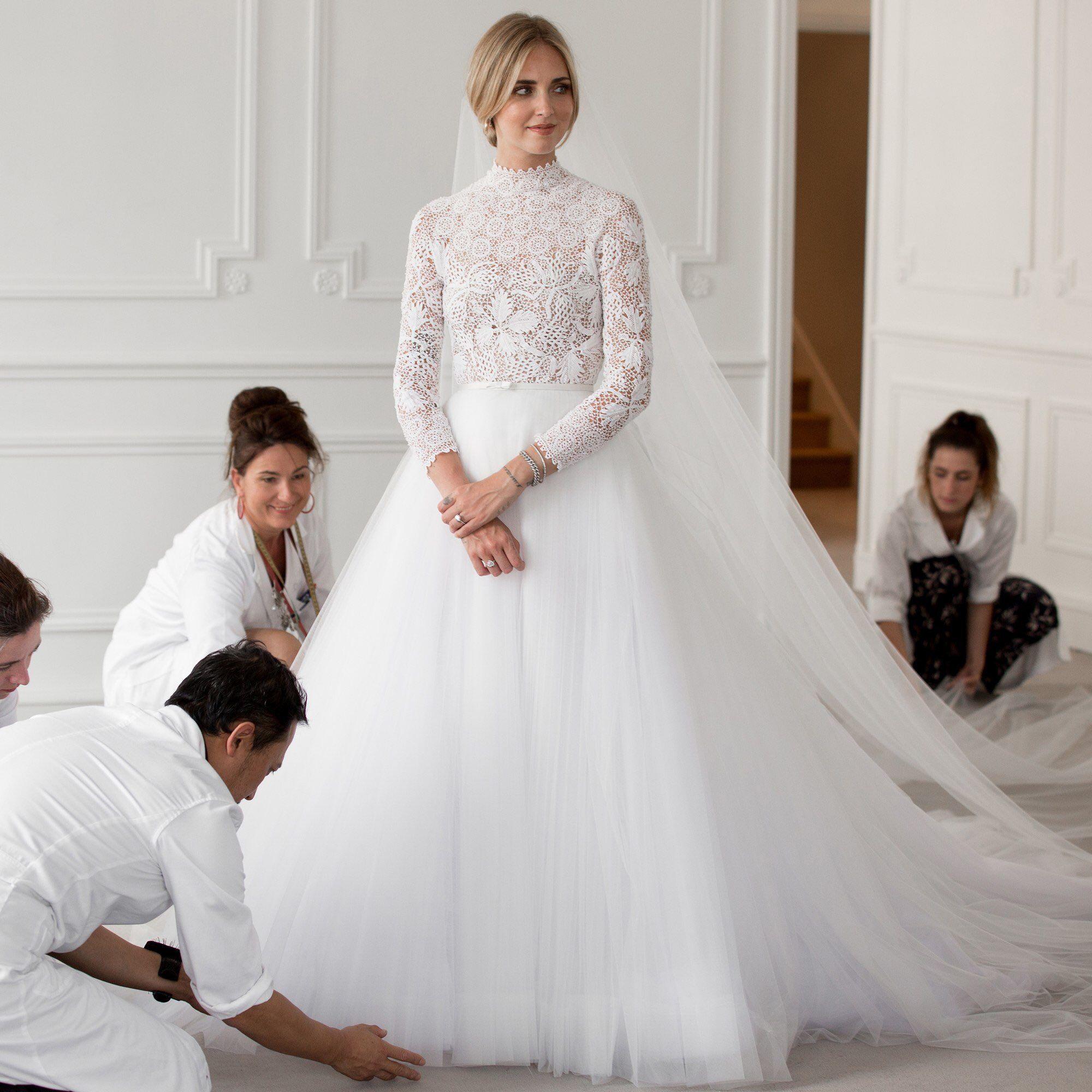Dior wedding dresses  Chiara Ferragnius custom Dior wedding dress  Style  Pinterest