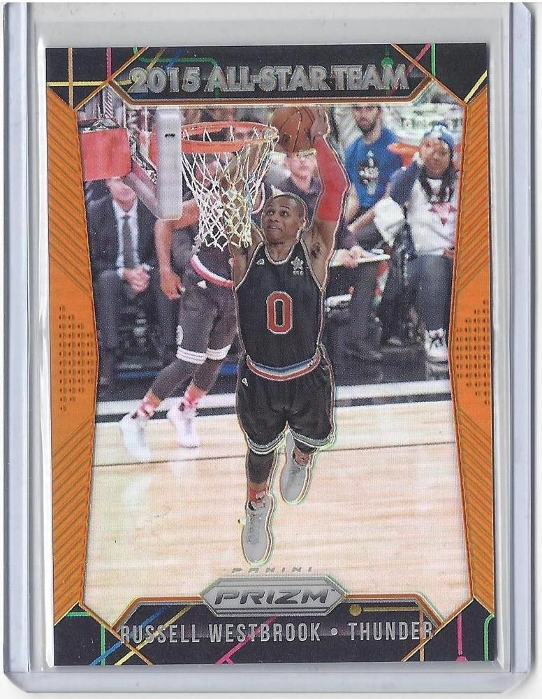 201516 prizm basketball russell westbrook orange