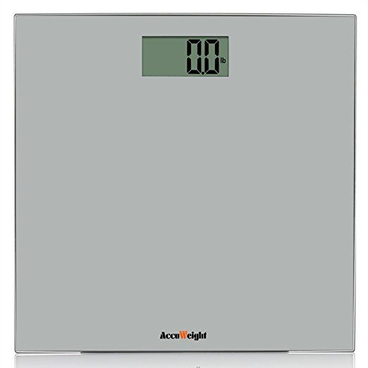Accuweight Digital Bathroom Weight Scale with 400lb/180kg Body Weighing Scale