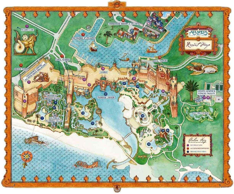 map of paradise island bahamas Atlantis Paradise Island With Images Paradise Island map of paradise island bahamas