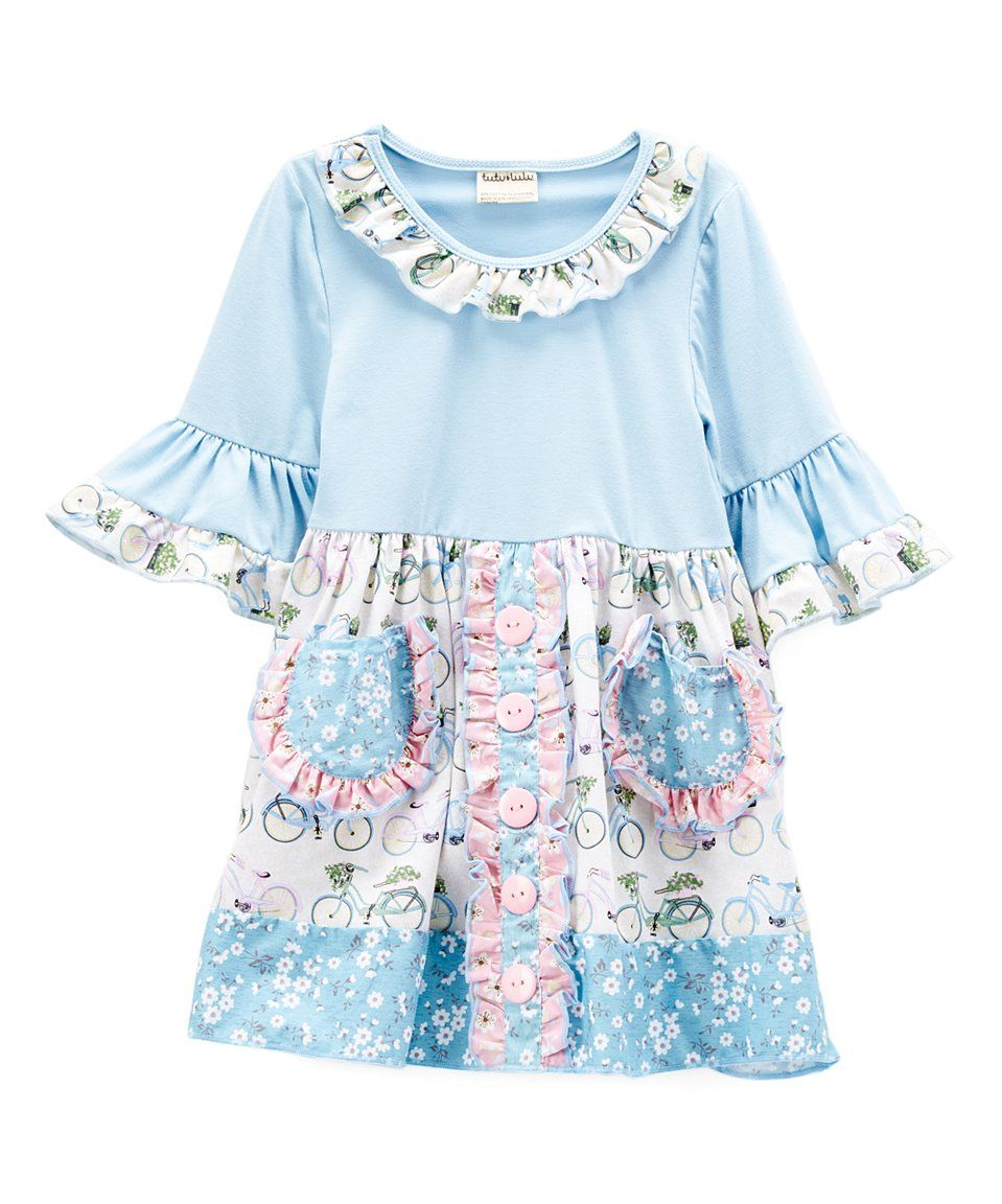 This Ruffles by Tutu AND Lulu Light Blue & Pink Floral