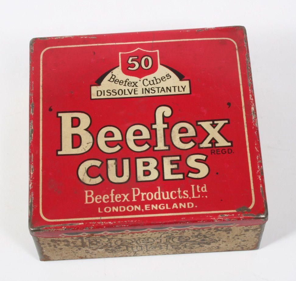 Vintage Advertising Tin Beefex Cubes