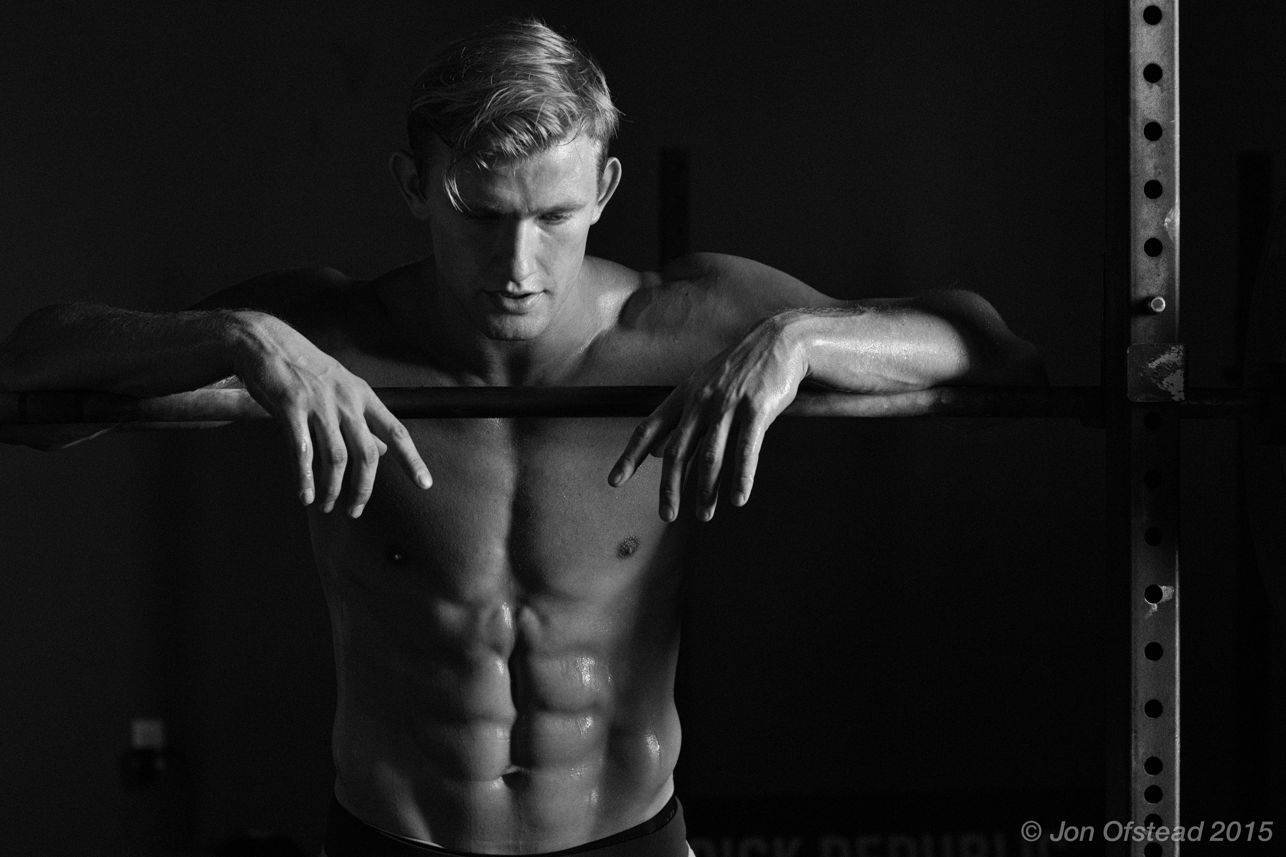athlete and actor anton narinskiy shot for elite fitness