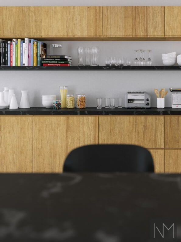 Instyle Bamboo Is A Modern And Stylish Kitchen Front With A Handle
