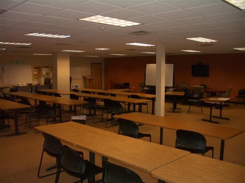 Event space set in class room style