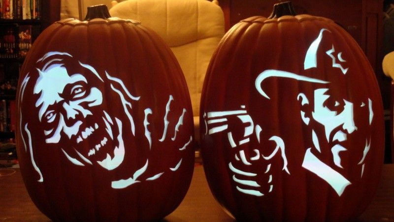 pumpkin carving template zombie  Pumpkin Carving Patterns and Stencils - Zombie Pumpkins ...