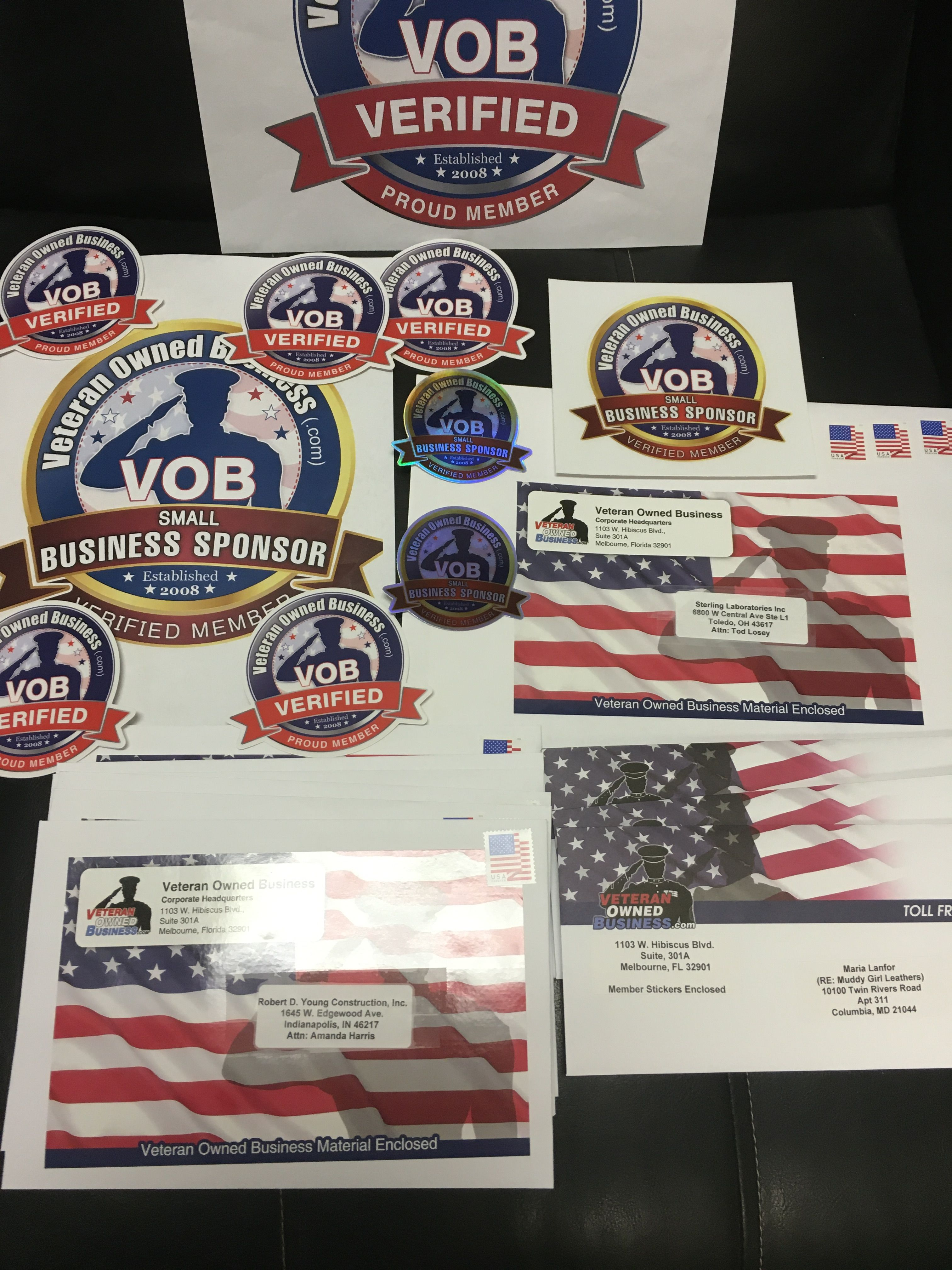 A Handful Of Veteranownedbusiness Com Verified Member Stickers