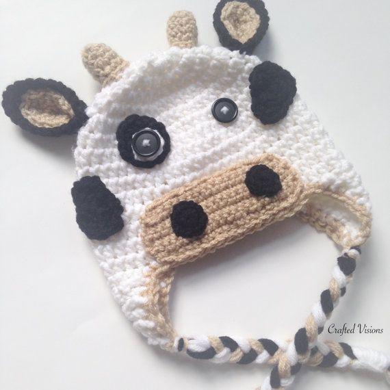 PATTERN** Crochet Cow Hat Pattern, Cow Hat, Crochet Hat Pattern, All ...