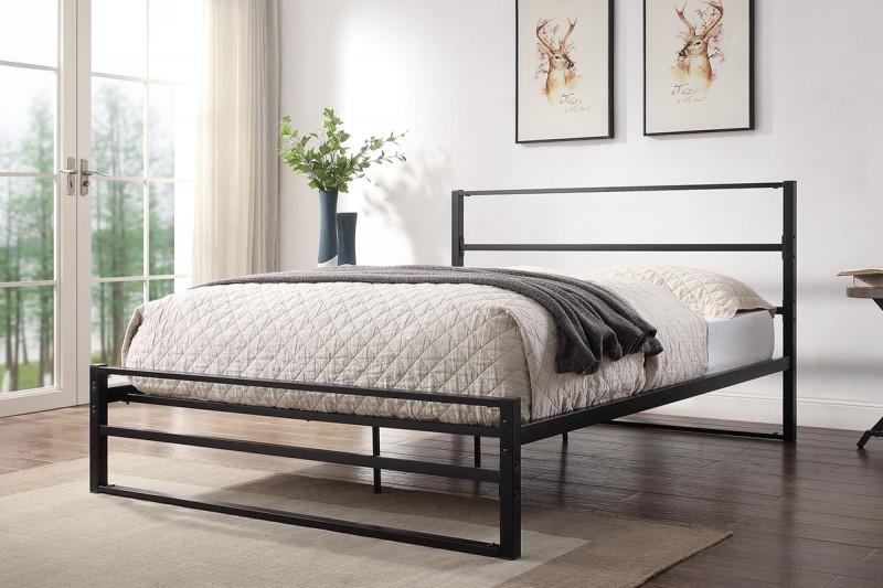 Hartfield Black Metal Bed Frame Single Double King Sizes In 2020 Black Metal Bed Frame Black Bed Frame Black Metal Bed
