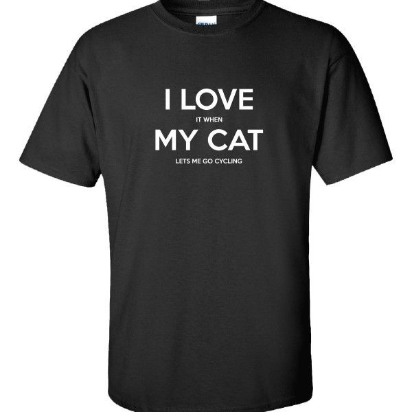 I Love It When My Cat LETS ME GO CYCLING Fun Gift For Cat Owners  Unisex Tshirt  Available At Find A Funny Gift's Online Store:  CLICK HERE => http://ift.tt/1QRWnWE <=  #FindAFunnyGift  is a Clothing Brand and your source for the Perfect Funny Gift!  We care about Quality : We only use the latest state-of-the-art #DTG Printing Techniques over High Quality Apparel to deliver Products You LOVE To Gift or Wear!  www.findafunny.gift #gift #funnygift #clothing #cool #apparel #menswear #womenswear…