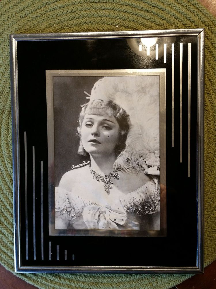 Vintage Art Deco Metal Glass Picture Frame 8x10 Of Anna