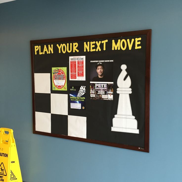 School Classroom Decor Games : Plan your next move chess theme bulletin board prince