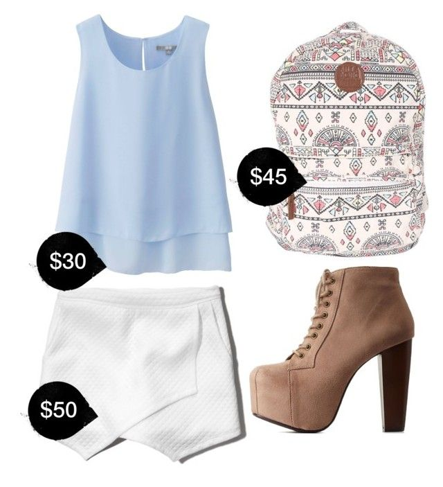 """""""My First Polyvore Outfit"""" by princesamela ❤ liked on Polyvore featuring Uniqlo, Abercrombie & Fitch, Billabong and Charlotte Russe"""