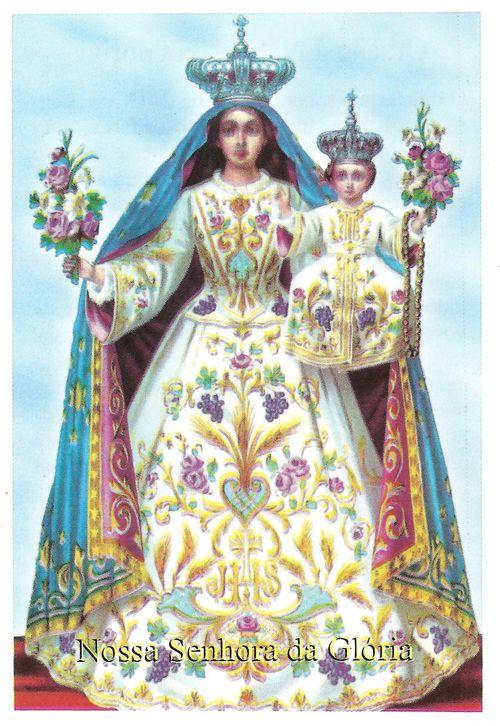 SJO Artigos Religiosos - Santinhos de Papel - Nossa Senhora da Glória