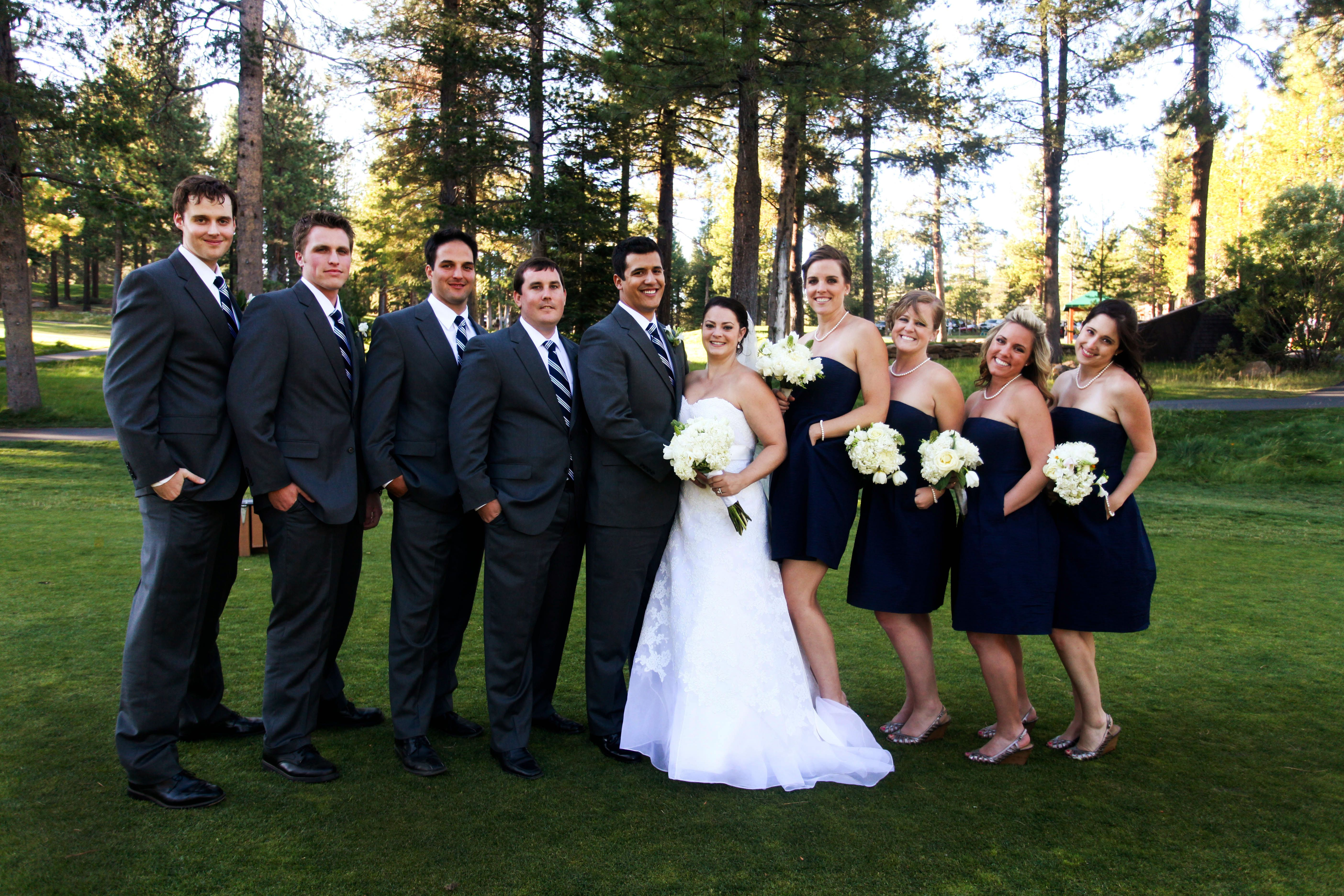Photo via bridal parties wedding photo gallery and perfect wedding photo via blue dresseswedding ombrellifo Choice Image