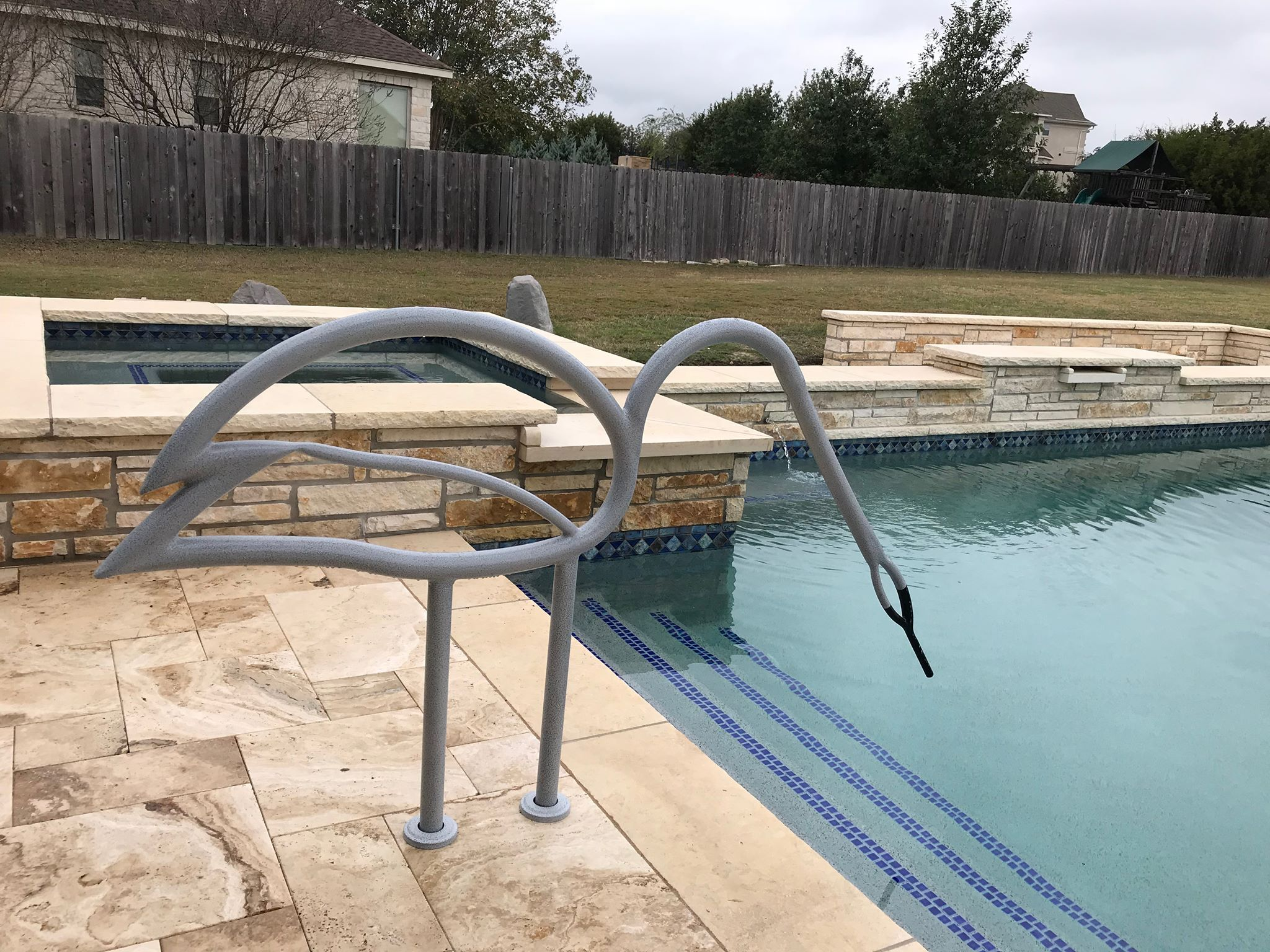 Swan Pool Rail Pool Rails Backyard Pool Pool Designs