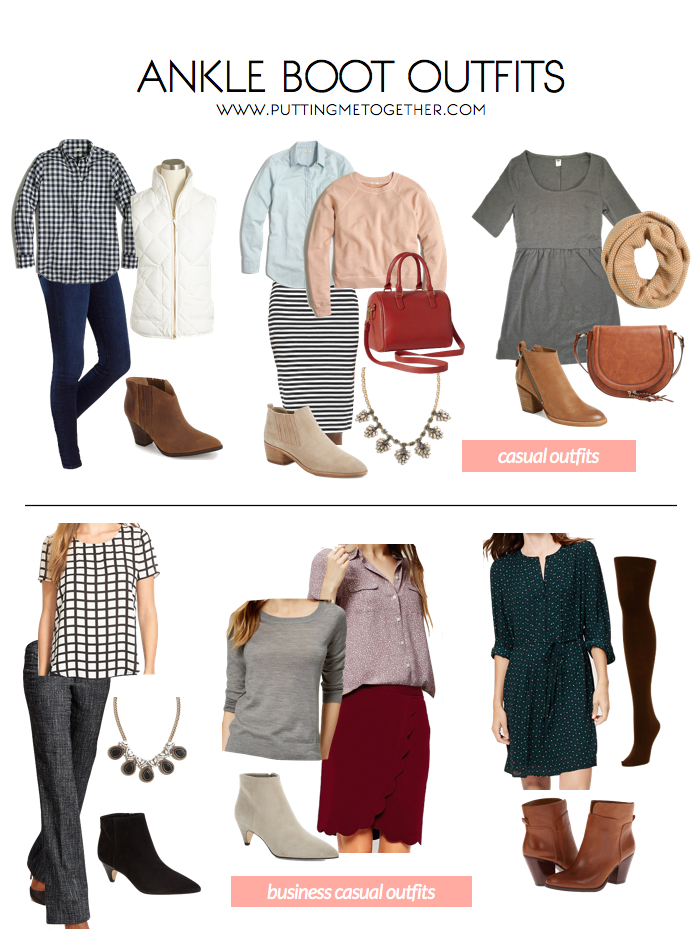 Ankle Boot Outfits - Casual and Business Casual (Putting