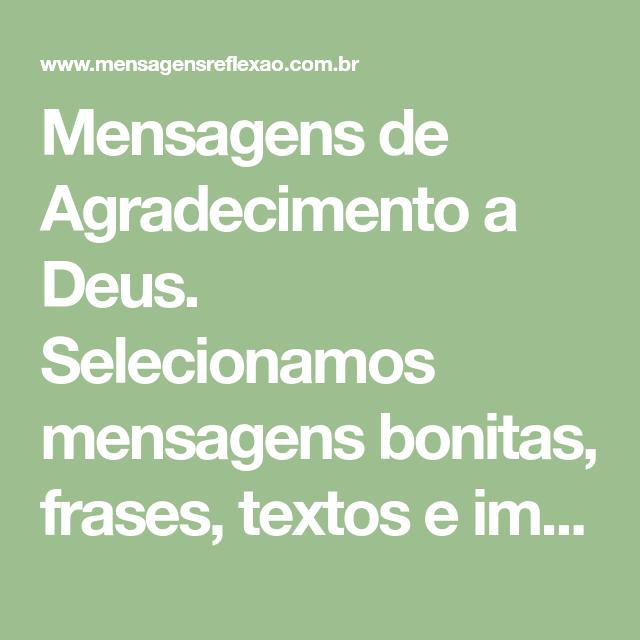 Mensagens De Agradecimento A Deus Selecionamos Mensagens