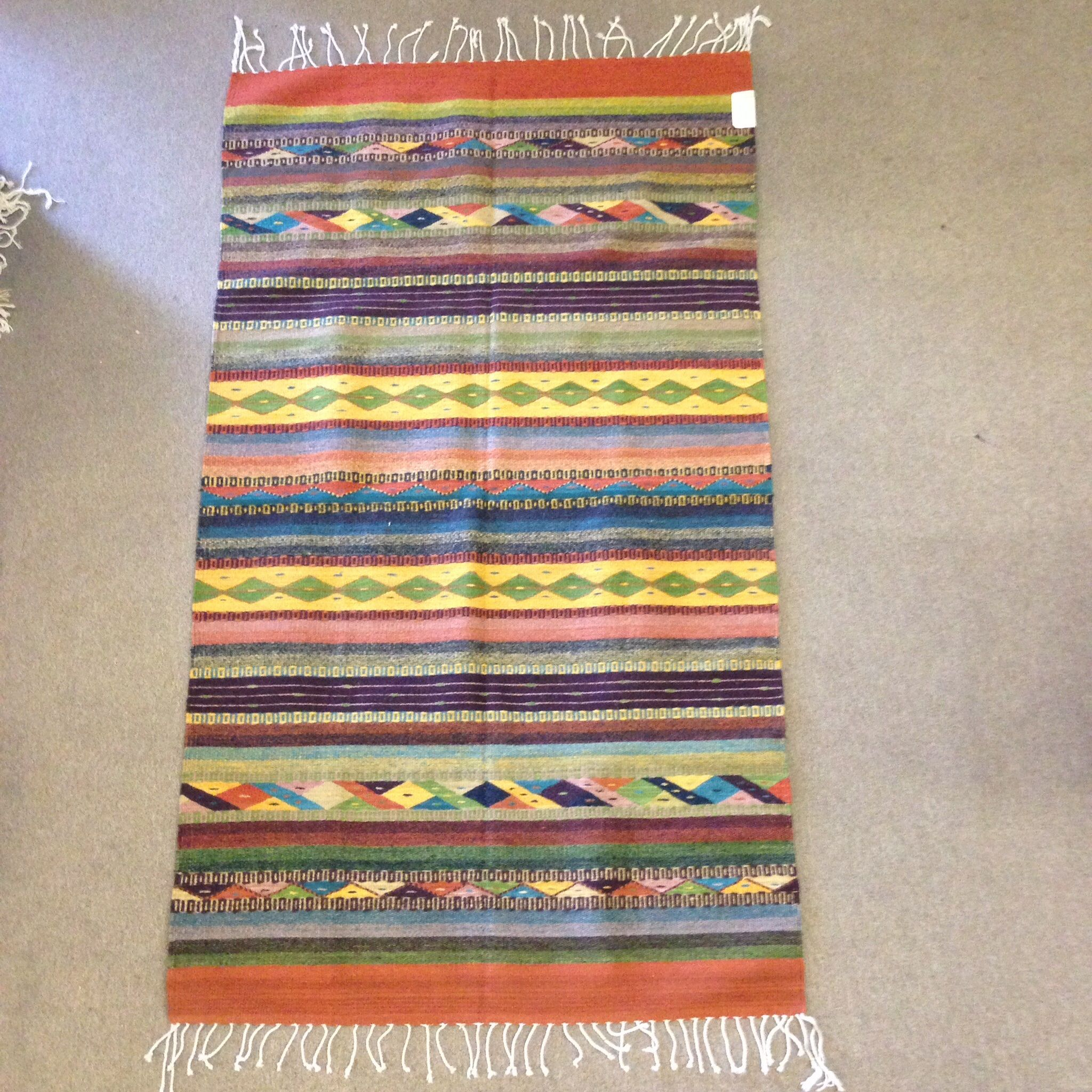 Zapotec Handwoven Rug In 100 Wool Available Online At Www