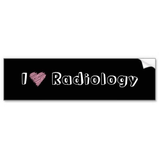 I heart radiology bumper stickers