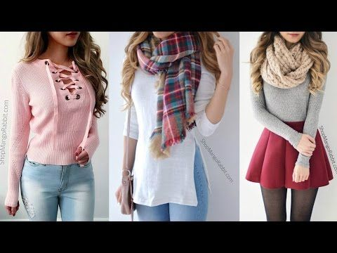 Ropa De Moda Juvenil 2017 Combinaciones Moda 2017 Youtube Fashion Plaid Scarf Style